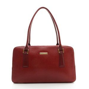 Auth Burberry Hand Bag Leather Red #13761B83